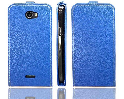caseroxx Flip Cover für Wiko Barry, Tasche (Flip Cover in blau)