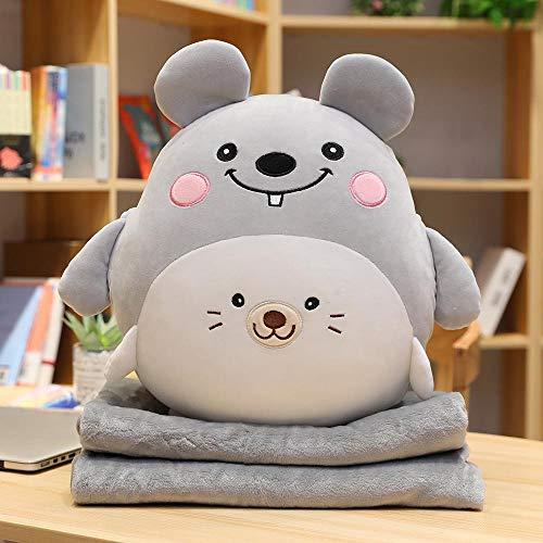 N / A Decke niedlichen Bären Huhn Schwein Schwein Hund Plüsch Spielzeug Plüsch weichen Tier Kissen niedlichen Geschenk für Kinder Babys Kinder 40cm