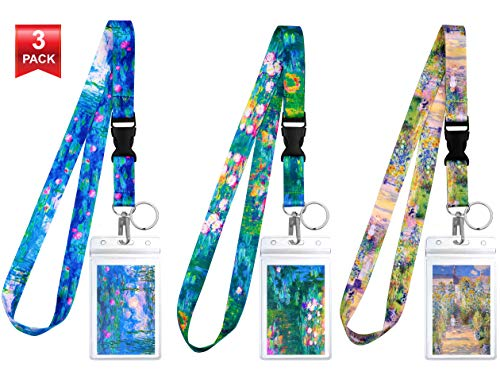 3-Pack Assorted Designs Lanyards with ID Holder & Key Ring for Keys, Cruise Ship