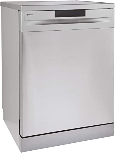 Elica 12 Place Settings Dishwasher With Soft Touch Control Panel (FREE STANDING DISH WASHER WQP12-7605V, Stainless Steel)