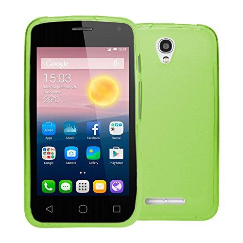 TBOC® Grün Gel TPU Hülle für Alcatel One Touch Pixi First - Pixi 1st (4.0 Zoll) Ultradünn Flexibel Silikonhülle