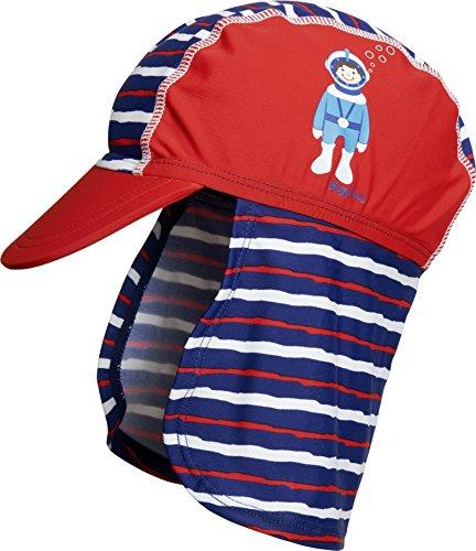Playshoes Jungen UV-Schutz Taucher Mütze, Rot (Rot 8), Small (Herstellergröße: 49cm)