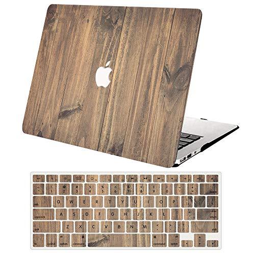 ACJYX Custodia MacBook PRO 13 Pollici 2016-2020 (Modello: A2338 M1/A2289/A2251/A2159/A1706/A1989), Plastica Protettiva Dura Case Cover e Tastiera Cover per MacBook PRO 13.3 - Venatura del legno