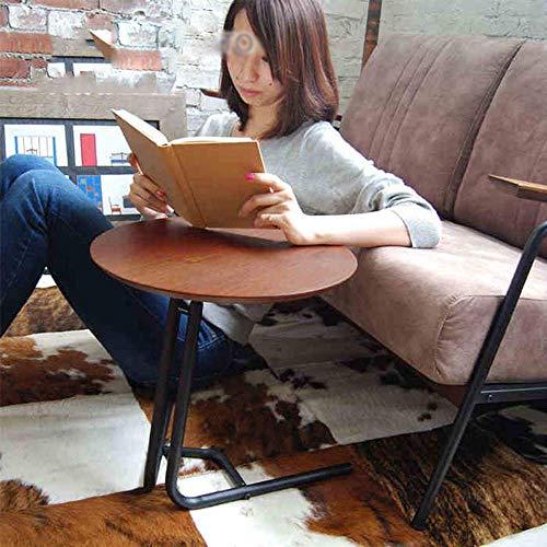 Good Coffee Table - Soporte de TV para mesa de teléfono, mesa de roble, mesa de hierro para sala de estar, sofá, mesa esquinera, mesa de ordenador, mesa lateral pequeña retráctil, MK