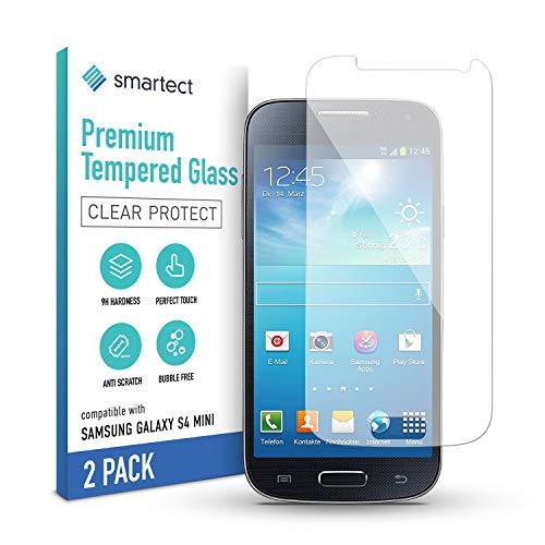 smartect Schutzfolie kompatibel mit Samsung Galaxy S4 mini Screen [2 Stück] - Tempered Glass mit 9H Härte - Blasenfreies Schutzglas - Anti-Kratzer Displayschutzfolie