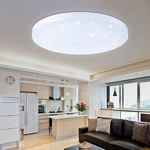 HG 50W LED Plafoniera Plafoniera Lampada da parete bianca Illuminazione a soffitto a soffitto Soggiorno Stelle