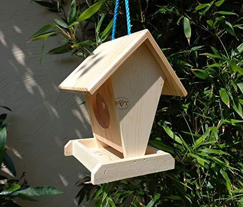 Vogelfutterstation-BEL-X-VOFU1K-natur002 PREMIUM Vogelhaus Vogelfutterhaus NEU Holz Nistkasten natur Gartendeko, als Ergänzung zum Meisen Nistkasten Meisenkasten oder zum Insektenhotel, Futterstation für Vögel, Vogelhäuser und Futterhäuser zum Hängen und zum Aufstellen - 3