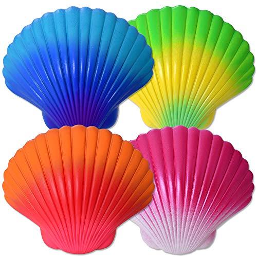 TE-Trend 4 pulseras mágicas de perlas de concha para niños, joyas para niñas, multicolor