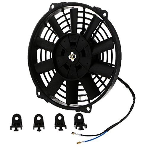 Gazechimp 9 Inch-12 Inch Diámetro Coche Moto Radiador Ventilador De Refrigeración Disipación De Calor 80W 12V Rendimiento Estable - 9 Pulgadas