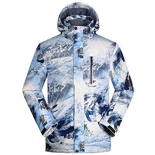 BGROESTWB Chaqueta de esquí para hombre y exterior, impermeable, chaqueta de esquí gruesa (color: color verdadero, tamaño: XL)