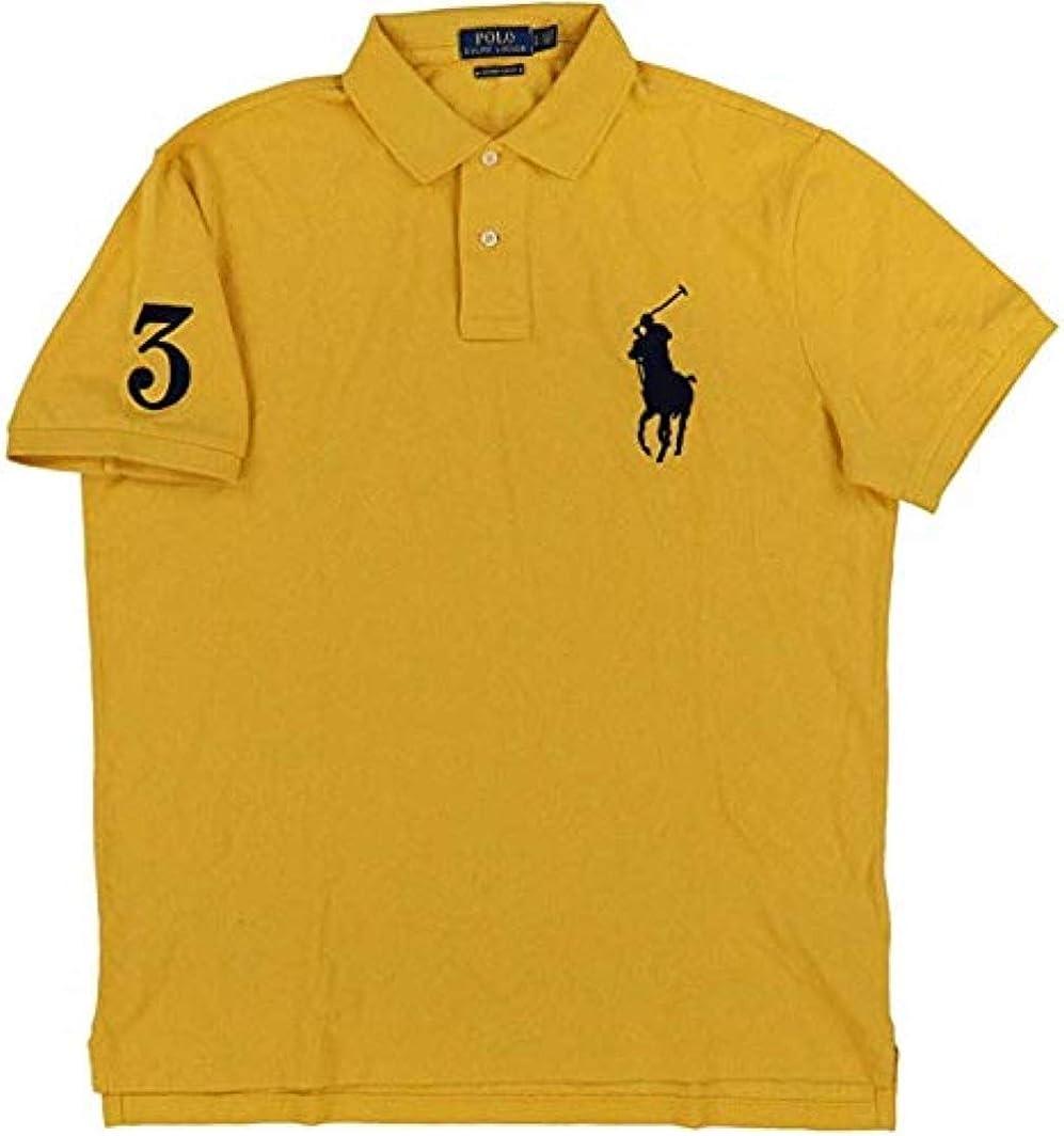 Polo Ralph Lauren Mens Custom Slim Fit Big Pony Logo Polo Shirt