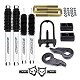 WULF 3' Front 2' Rear Leveling Lift Kit with Pro Comp Shock compatible with 2001-2010 Chevy Silverado 2500HD