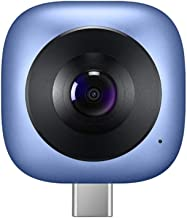 HUAWEI CV60 Cool Edition Panoramic Camera Lens 360° 5K Photos & 2K Full HD Videos Dual 13MP 210° Wide-Angle Lens GIF Fisheye Effect VR Modes Mobile Phone External Camera Lens for Android 6.0 and above