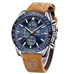 cheap BENYAR Chronograph Men's Watch | Classic Design | Quartz Movement 30M Water Resistant |…