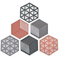 6 pezzi sottopentola in silicone, sottopentola multiuso, sottobicchieri di alta qualità, lavabili in lavastoviglie, impermeabili resistenti al calore, per piatti da scodella, cucchiaio, cucina