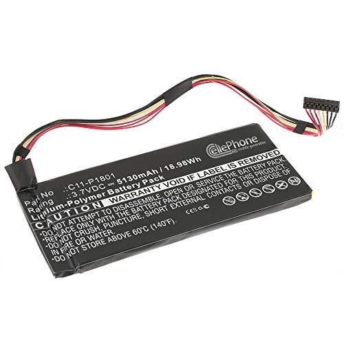 cellePhone Batteria Li-Polymer Compatibile con ASUS Transformer AiO (sostituita C11-P1801) - 5130 mAh