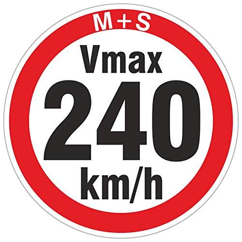 240 km/h 50 Stück Geschwindigkeitsaufkleber Aufkleber Reifen Winterreifen Vmax Winterräder