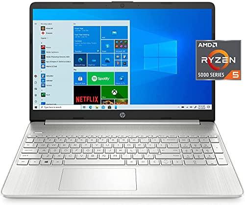 2021 HP 15.6' Full HD Laptop, AMD Ryzen 5-5500u Processor, 8GB DDR4 RAM, 256GB SSD, Bluetooth,...