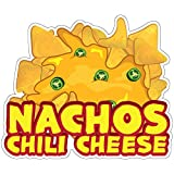 SignMission Nachos Chili Cheese 12' Decal Concession Stand Food Truck Sticker, Size