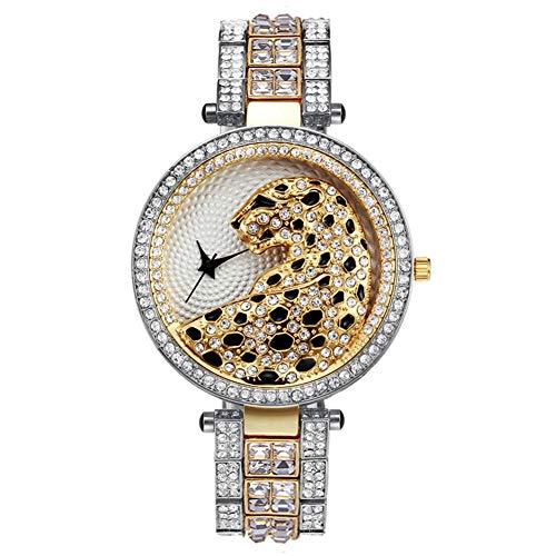 Dameshorloges, roestvrijstalen horloges voor dames, Romeinse cijfers voor dames, dameshorloge met diamanten accenten,L2