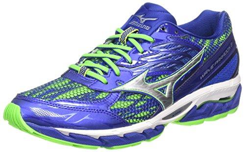 Mizuno Wave Paradox 3, Zapatillas de Running para Hombre, Azul (Surf The Web/Silver/Green Gecko), 7 UK 40 1/2 EU