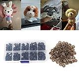 ECMQS 100 Stücke Kunststoff Sicherheit Dreieck Nase Puppe Plüsch Spielzeug Kuscheltiere DIY Machen, 8/9/11/13.5/15mm
