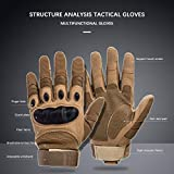 XinGung Motorbike Full Finger Gloves for Motorcycle Cycling Climbing Hiking Hunting Outdoor Sports Gear Glove (Tan, Large)