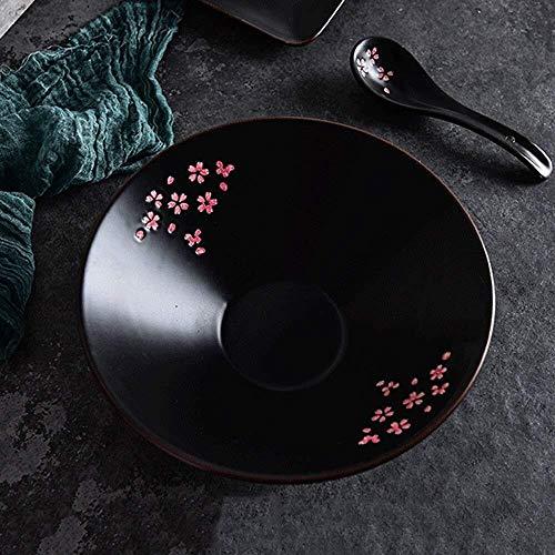 10 Pouces Fleurs Black Cherry Couverts Fruit japonais Salade/Pâtes/Céréales/Snack/soupe Bols restaurant Art de la table MÉNAGERS vie