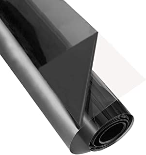 ZEALOTT Heat Rejection Window Glass Tinting Film for Residential and Commercial Uses, Sun Blocker, Solar Guard, 23.6-Inch by 6.5-Feet (60cm x 2m), Light Black