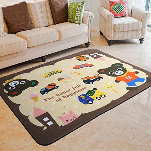 CFSMY Tapijten, Cartoon Kids deken Woonkamer Teestube Slaapkamer Tapijt met stapelbed Baby Crawlmat Tapijt 190 x 280 cm