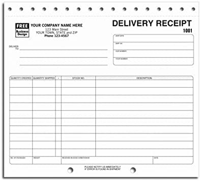 Amazon Com Preprinted Delivery Receipt Forms Office Products