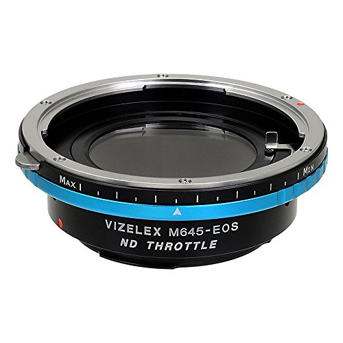Fotodiox adapter Pro ND Mamiya 645 (M645) Lens voor Canon EOS Variable ND Filter (ND2-ND1000) - Vizelex ND Throttle Lens Mount Adapter van Fotodiox Pro - Mamiya 645 (M645) Lens to Canon EOS (EF, EF-s) Camera (APS-C & Full Frame zoals 7D, 5D Mark III) - met ingebouwde Variabele ND-filter (ND2-ND1000)