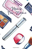 Makeup Face Notebook: Female Face and Eye for Professional Makeup Artists – Record Client – Drawing Coloring Face – Skin Care Correction Lips Eyebrows Powder – Creative Work Log Book