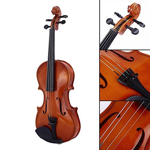 Bolange 1/8 Größe akustische Violine Geige Kit Set Rotlicht für Studenten Starter Anfänger Urlaubsgeschenk(kein Geigenbogen)