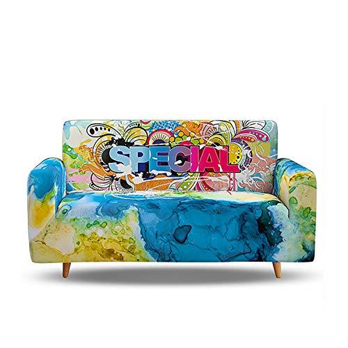 Fundas elásticas para sofá de 1/2/3/4 plazas, fundas elásticas impresas, protector de muebles de asiento con estampado lavable para decoración de sala de estar
