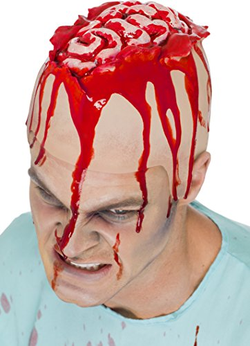 Halloween! Smiffys Offenes Gehirn Kappe, Latex