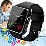 Peakfun Smart Watch,Android Smartwatch Touch Screen Bluetooth Smart Watch for Android Phones Wrist Phone Watch with SIM Card Slot & Camera,Waterproof Fitness Tracker Sports Watch for Men Women Kids
