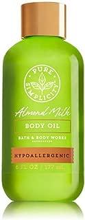 Bath & Body Works - Pure Simplicity – Hypoallergenic - Almond Milk - Body Oil. 6 Oz.