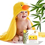 Premium Baby Hooded Towel 100% Soft Organic Bamboo Baby Bath Towels for Kids, Toddlers, Infants, for Boys and Girls | Newborn Baby Wrap Towel | Best Ideas with Free Duck Shower Toy