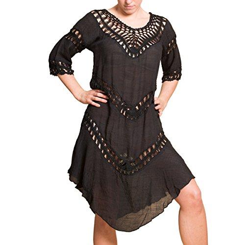 PANASIAM Ibiza Dress 003 in Black, Unisize