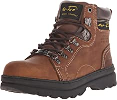 Ad Tec Womens 6 Inch Steel Toe Work Boot, Premium Leather Shock Absorbing Rubber Sole and Soft Padded Coller, Slip...