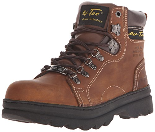 Ad Tec Womens 6 Inch Steel Toe Work Boot, Premium Leather Shock Absorbing Rubber Sole and Soft Padded Coller, Slip Resistant and Breathable Boots for Work Women Brown
