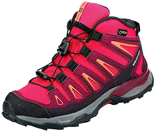 SALOMON X-Ultra Mid GTX J, Stivali da Escursionismo Unisex-Bambini, Rosa (Virtual Pink Beet Red Living Coral 000), 33 EU