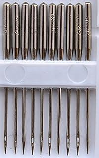 TSL 10 sydda nålar med platt skaft, metall, silver, 4 x 0,01 x 0,01 cm