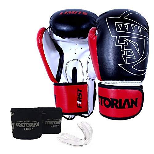 Kit Boxe/Muay Thai Pretorian Fisrt Luva PretorBucal Bandagem
