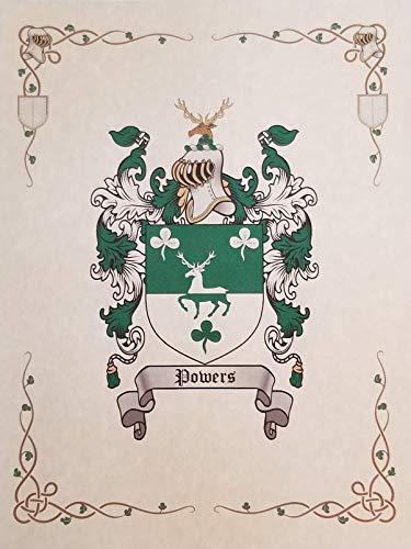 Mr Sweets Quintero Coat of Arms, Family Crest 8.5x11 Print - Surname Origin: Spanish Spain