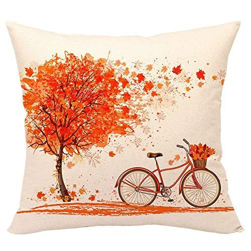 99native Taie d'oreiller de vélo Maple Leaf,Court Peluche Coussin Fall rectangulaire Canapé Maison Auto décoratif taie d'oreiller Housse de Coussin (Vélo Maple Leaf)