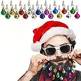 Chasgo Beard Ornaments Christmas Gag Gifts for Men, 18 Packs Colorful Christmas Sounding Beard Baubles Ornaments, Ugly Christmas Party Decor for Dad, Men, Boyfriend, Husband, Christmas Beard Gifts