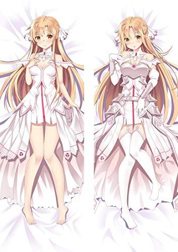 Yuuki Asuna, funda de almohada de anime de doble cara/funda de almohada de cuerpo, diversos materiales y tamaños, patrones de anime están disponibles, fans de anime y regalos de Otaku