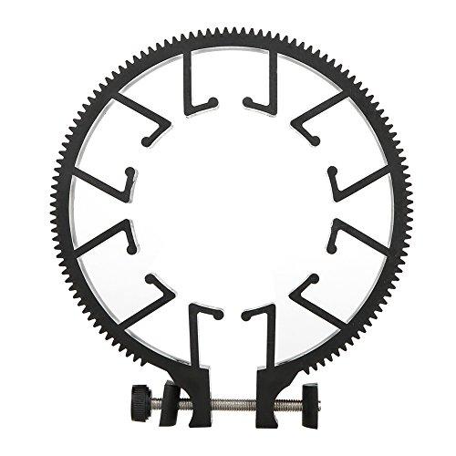 Engranaje de enfoque de seguimiento, anillo de cinturón de engranaje de lente flexible, engranaje de enfoque de zoom de plástico liviano Anillo de enfoque de zoom ajustable, para lente DSLR de 55-65 m